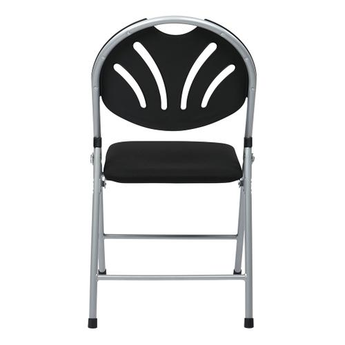 Folding Chair With Plastic Fan Back