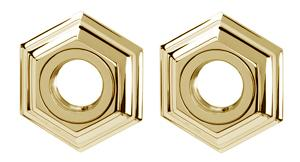 Nicole Grab Bar Brackets A7724 - Polished Brass Product Image