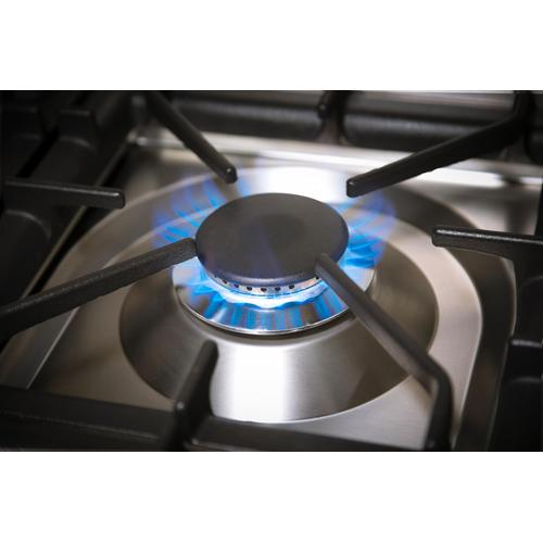 Ilve - Professional Plus 30 Inch Dual Fuel Liquid Propane Freestanding Range in Stainless Steel with Chrome Trim