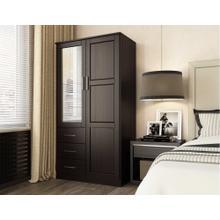 7106 - 100% Solid Wood Metro Wardrobe -Java