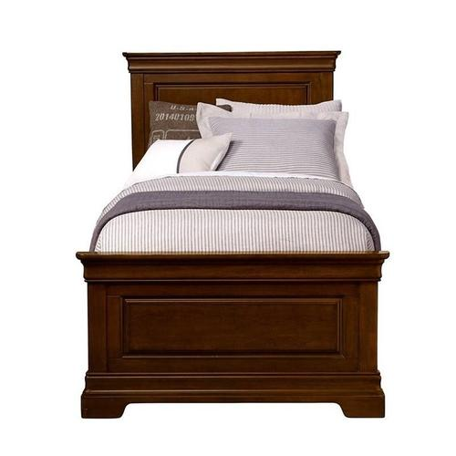 Teaberry Lane Midnight Cherry Twin Panel Bed