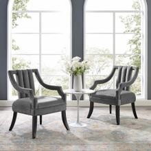 Harken Accent Chair Performance Velvet Set of 2 in Gray