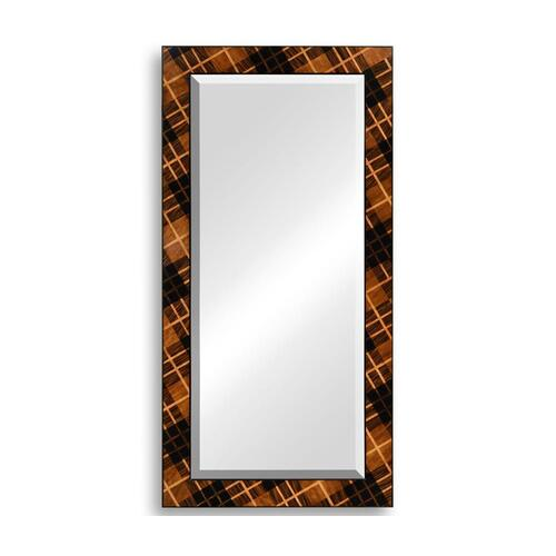 Hand inlaid Tartan mirror (floor standing)