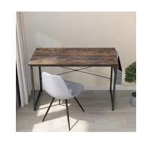"""See Details - 3827 Metal Writing Desk with Side Storage - 47"""" L"""