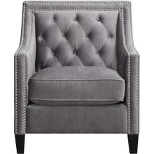 See Details - Hanover Willa Button Tufted Accent Chair in Steel Gray, HUP304-GRY