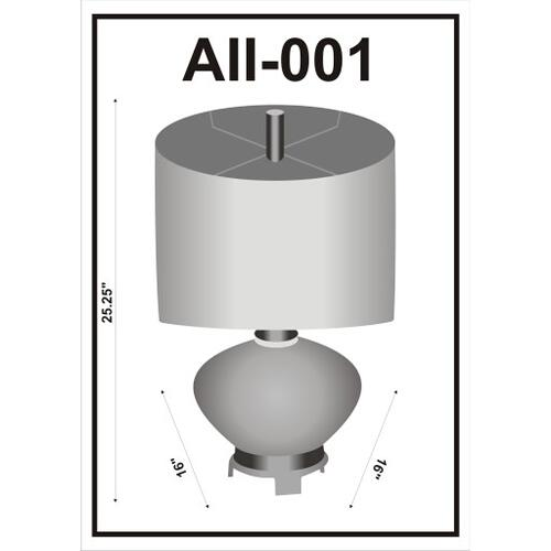 "Ailani AII-001 25""H x 16""W x 16""D"