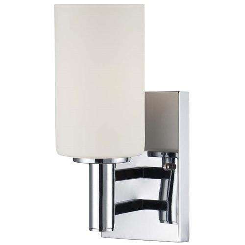 Wall Lamp, Chrome/frost Glass Shade, E27 Type A 60w