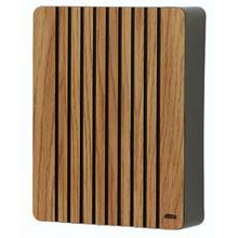 See Details - Light oak with vertical grooves