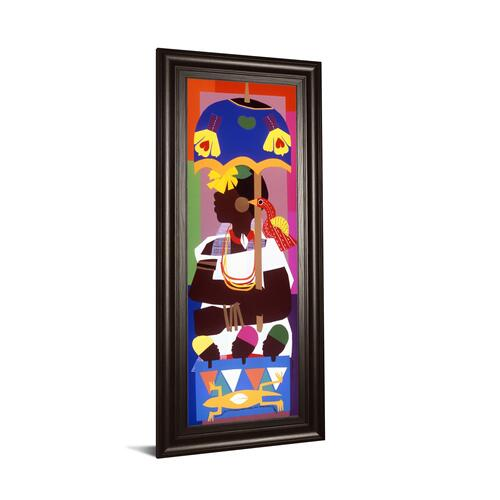 """Ashanti"" By Varnette Honeywood Framed Print Wall Art"