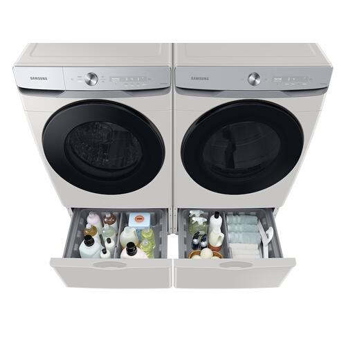 Samsung - 7.5 cu. ft. Smart Dial Electric Dryer with Super Speed Dry in Ivory