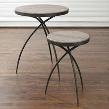 Tripod Table w/Grey Marble Top-Sm