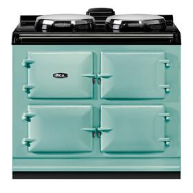 """AGA Dual Control 39"""" Electric Pistachio with Stainless Steel trim"""