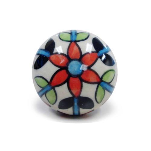 Epicureanist Multicolored Floral Ceramic Bottle Stopper
