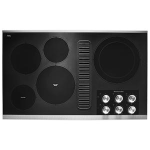 "KITCHENAID36"" Electric Downdraft Cooktop with 5 Elements - Stainless Steel"