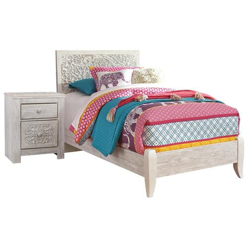 Twin Panel Bed With Nightstand