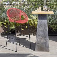 """View Product - Acapulco 26"""" Indoor Outdoor Steel Bar Stool with Brick Red Rope"""