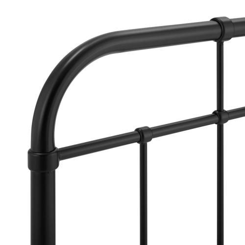 Alessia Twin Metal Headboard in Black