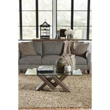 Mirabelle - Glass Top Coffee Table - Ecru Finish