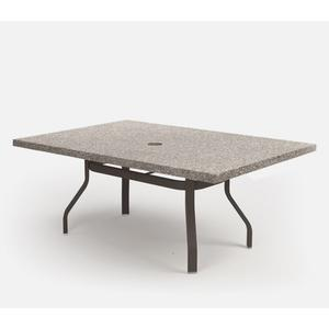 """42"""" x 62"""" Rectangular Dining Table (with Hole) Ht: 27.25"""" 37XX Universal Aluminum Base (Model # Includes Both Top & Base)"""