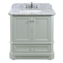Ocean Grey RICHMOND 30-in Single-Basin Vanity with Carrara Stone Top