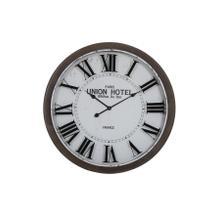 See Details - 7105673 - Clock 78x7 cm BANBURY white+brown