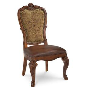 Old World Upholstered Back Side Chair (Sold As Set of 2)