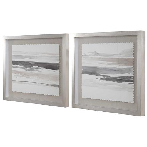Neutral Landscape Framed Prints, S/2