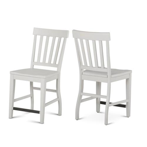 Cayla Counter Chair, White