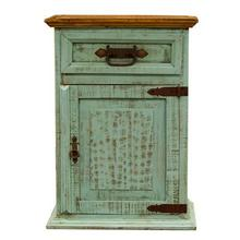 "Nightstand Right : 26"" x 20"" x 32"" Turquoise Washed Collection"