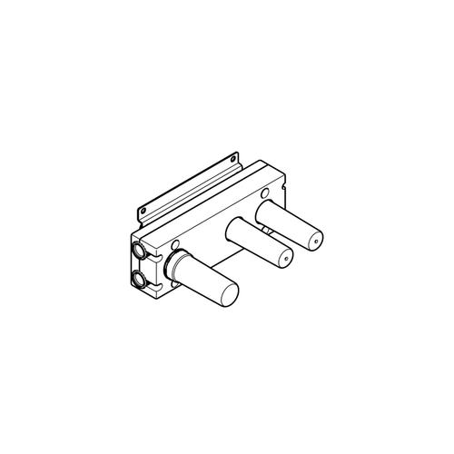 Dornbracht - Rough for wall valve with two volume controls with diverter for wall-mounted installation -