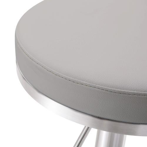 Tov Furniture - Fano Light Grey Stainless Steel Barstool