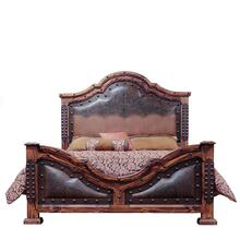 King Fine Laquer Tooled Leather Bed DISCONTINUED