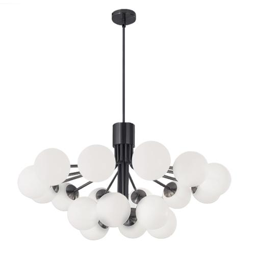 Product Image - 18lt Chandelier, Mb Finish W/ Opal Glass