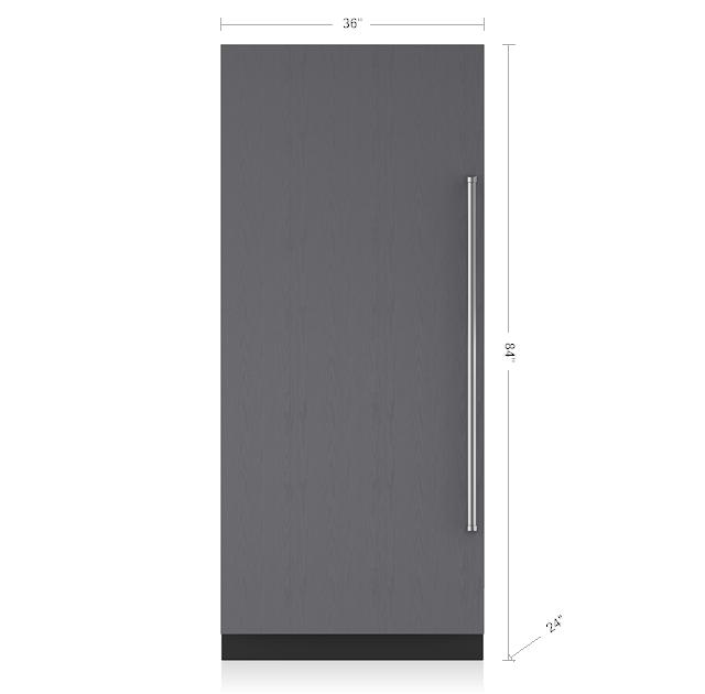 "Subzero36"" Designer Column Refrigerator With Internal Dispenser - Panel Ready"