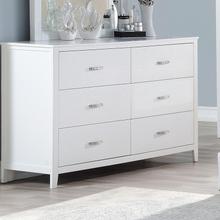 Masha, Cherise Alligator Print Dresser, White