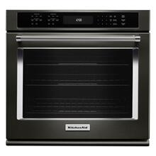 "30"" Single Wall Oven with Even-Heat True Convection - Black Stainless Steel with PrintShield™ Finish"