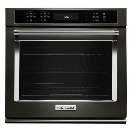 "30"" Single Wall Oven with Even-Heat™ True Convection - Black Stainless Steel with PrintShield™ Finish"
