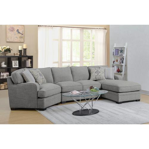 Emerald Home Analiese Chaise Sectional Linen Gray U4315-29-13