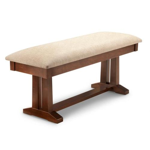 """- Brooklyn 48"""" Pedestal Bench with Fabric Seat"""