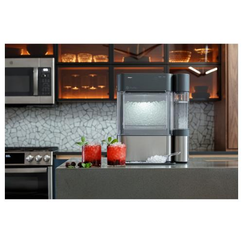 "GE Profile™ 30"" Smart Slide-In Front-Control Gas Double Oven Convection Fingerprint Resistant Range"