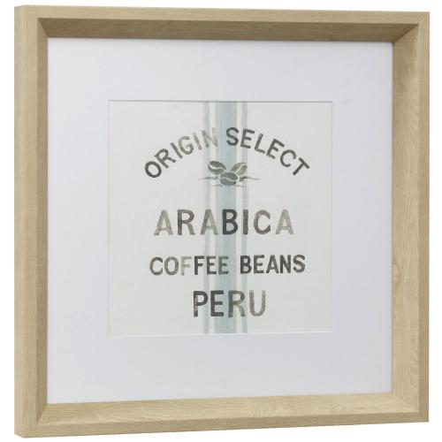 Style Craft - COFFEE SHOP I  13in w X 13in ht  Framed Print Under Glass with Matte