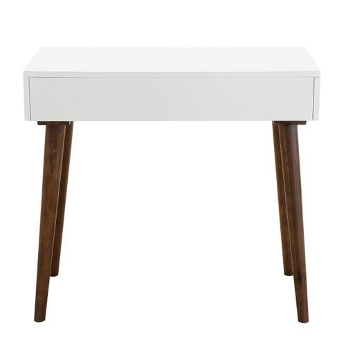 Mid-Century Modern Mini Desk in White