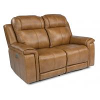 Kingsley Power Reclining Loveseat with Power Headrests Product Image