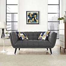 See Details - Bestow Upholstered Fabric Loveseat in Gray