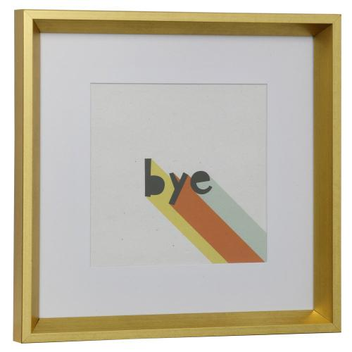 Style Craft - BYE  13in w X 13in ht  Framed Print Under Glass with Matte