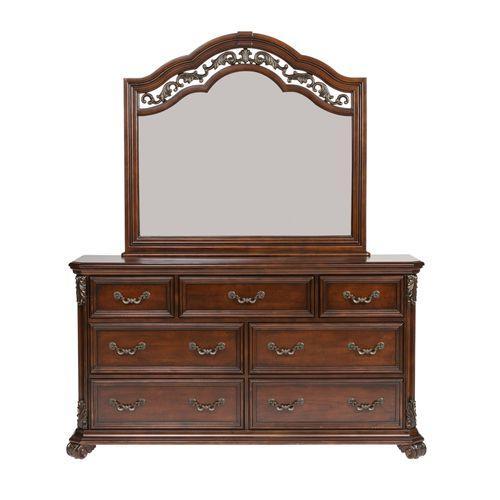 Liberty Furniture Industries - Queen Poster Bed, Dresser & Mirror