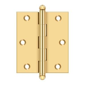 "3""x 2-1/2"" Hinge, w/ Ball Tips - PVD Polished Brass Product Image"