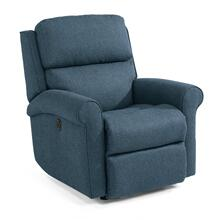 Belle Power Rocking Recliner in Lapis Fabric