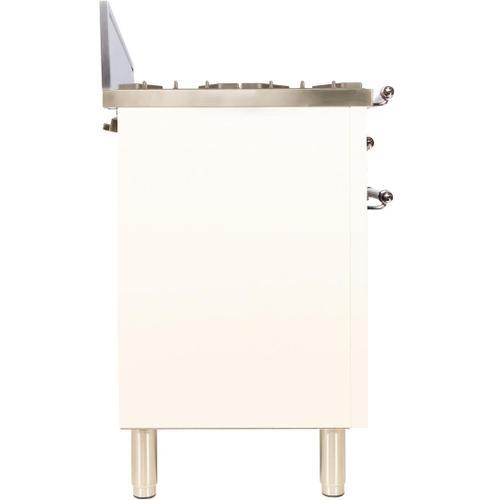 Nostalgie 30 Inch Gas Natural Gas Freestanding Range in Antique White with Chrome Trim