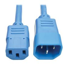 PDU Power Cord, C13 to C14 - 10A, 250V, 18 AWG, 2 ft. (0.61 m), Blue